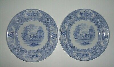 Two Antique J&MP Bell  & Co. Glasgow Dinner Plates 1870 • 8£