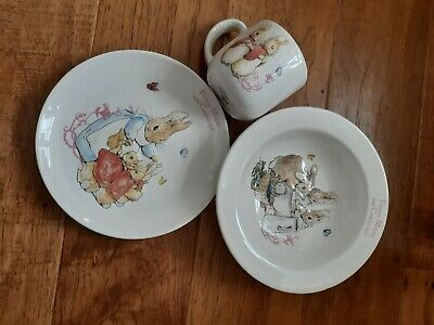 Peter Rabbit Nursery Toddler Baby Bowl, Plate & Mug Set,  • 3.50£
