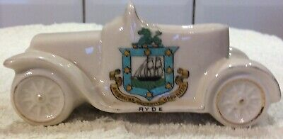 Crested Ware Arcadian Sports Car Ryde Isle Of Wight • 8£