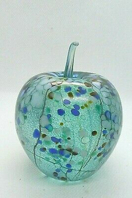 Isle Of Wight Studio Glass Iridescent Apple Paperweight Beautiful Colours • 14.99£