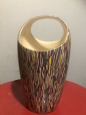 Royal Winston Flower Vase Vintage Grimwades 8 Inches High Multi Colour Pattern • 14.99£