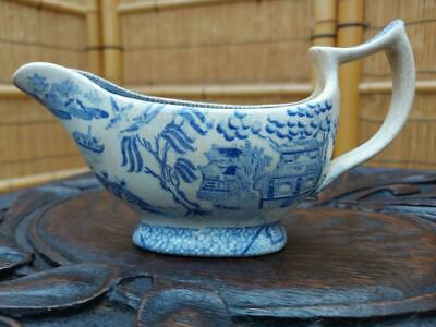 Antique Willow Gravy Boat Circa 19th Century Willow  • 14.99£