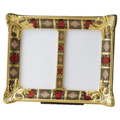 Royal Crown Derby 1st Quality Old Imari Solid Gold Band Double Picture Frame • 610£