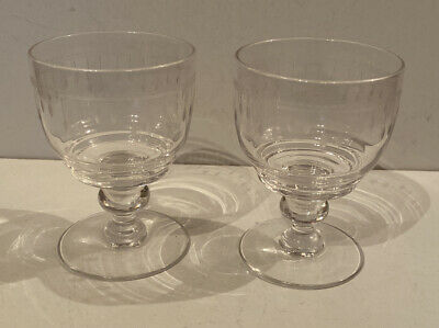 Set Of 2 Stuart Small Glasses With Etched Detail • 25£
