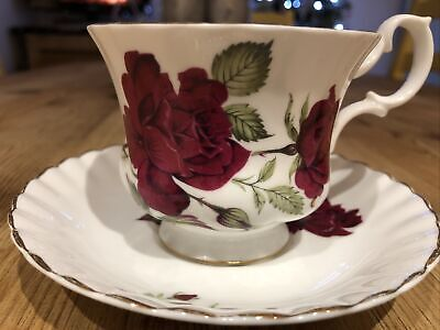 Crown Fenton Fine English China Teacup & Saucer Rose • 3.50£