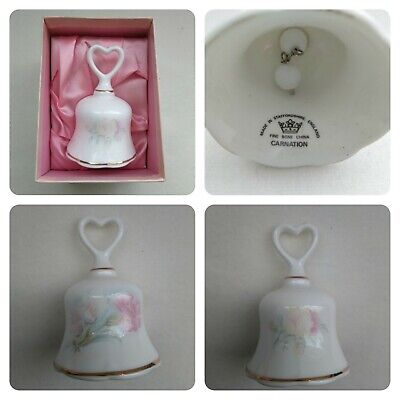 Fine Bone China Staffordshire Bell Carnation Design With Gold Trim, Boxed • 5£