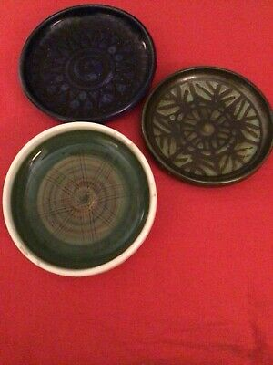 Iden Pottery  Rye Pin Dishes • 10£