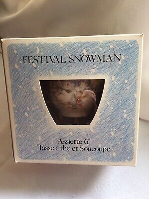"BOXED- Vintage Royal Doulton The Snowman Giftware Collection **PARTYTIME TRIO"" • 47.95£"