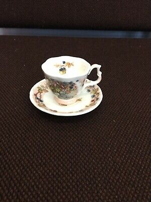 Miniature Royal Doulton Brambly Hedge Autumn Cup & Saucer • 4.60£