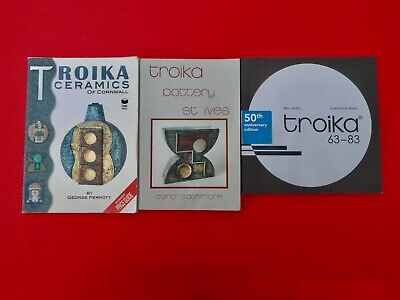Troika Pottery 3 X Books  Information History About This Historic Pottery Rare • 170£