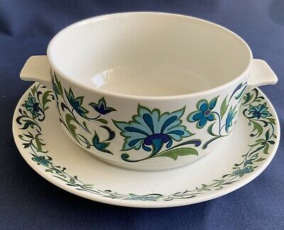 Midwinter Spanish Garden Soup Bowl & Saucer Jessie Tait / Marquis Of Queensberry • 10.80£
