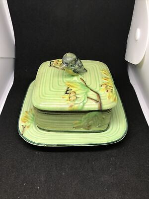 Foreign Made Butter Dish Preserve ? - Kingfisher In A Tree Scene • 3.99£