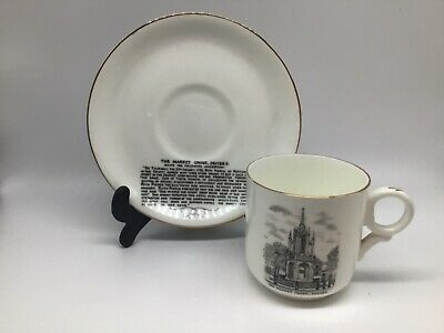 Wh Goss Porcelain Tea / Coffee Cup And Saucer - Devizes • 40£
