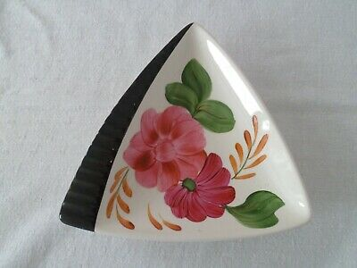 Shorter & Son Art Deco Handpainted Dish With Pink Flowers Vintage 1920s 1930s  • 18.99£