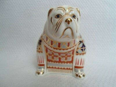Royal Crown Derby Paperweight   BULLDOG   1991 To 1997 Gold Stopper • 59.99£