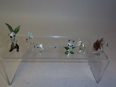 Collection Of 6 Coloured Miniature Glass Animals - Excellent Condition • 9.99£