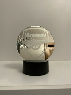 Decorative 15cm Mirror With Arsenal Logo On It With Led Light And Remote • 15.99£