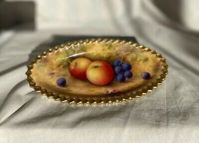 Royal Worcester Fruit Painted Plate; Signed By A Shuck • 174£