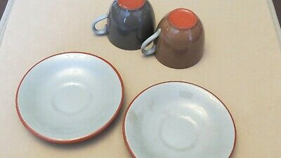 Dartmouth Pottery 2 Cups & Saucers Vintage • 15£