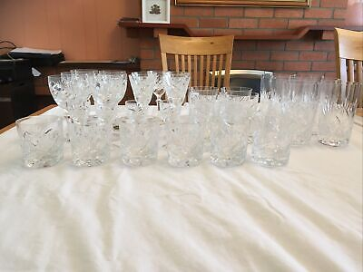 Royal Brierly Cut Crystal Glasses Whole Set • 30£