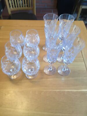 Royal Brierley Crystal Glasses Smokey Clear Colour • 15£