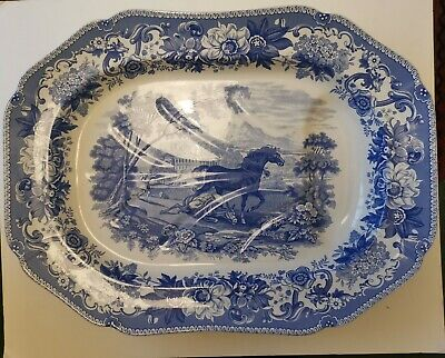 Spode Aesop's Fables Well And Tree Platter Blue And White Limited Edition No.697 • 60£