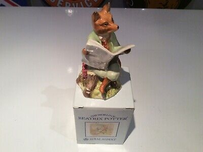 Royal Albert Beatrix Potter Foxy Reading Country News Mint Condition In Box • 1.20£