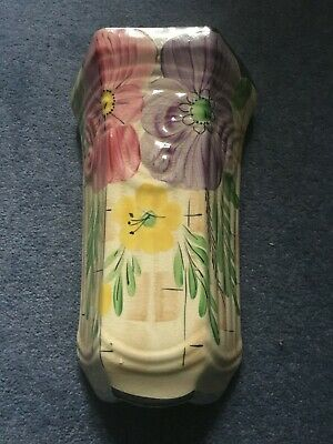 Art Deco Arthur Woods Pottery Hand Decorated Wall Pocket • 12.99£