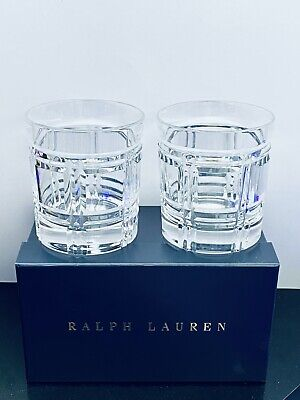 Ralph Lauren Greenwich Set Of Two Double Old Fashioned Tumblers Glasses • 95£