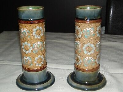 Pair Of Royal Doulton Slaters Spill Vases #8389 • 55£
