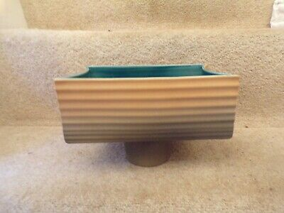 Beswick 2336 RETRO PLANTER FOR BULBS BROWN RIBBED WITH GREEN INSIDE 9  X 5  • 4.95£