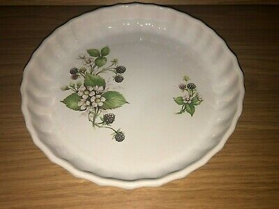 Vintage Pearsons Of Chesterfield Stoneware Blackberry Pie Flan Dish  • 8.08£