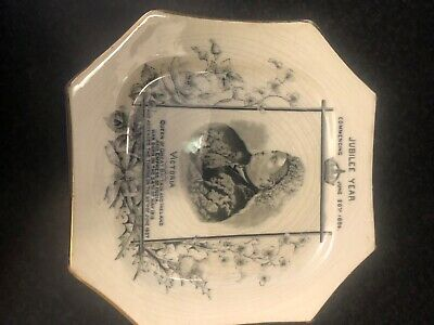 Vintage Plate Jubilee Year Comencing June 20th 1886 Victoria Queen Of Great Brit • 20£