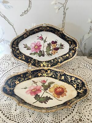 2 ANTIQUE Dessert Dishes C1820 Likely DERBY BLOOR • 200£