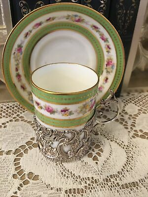Stunning CAULDON Silver Mounted Cup With Saucer  • 75£