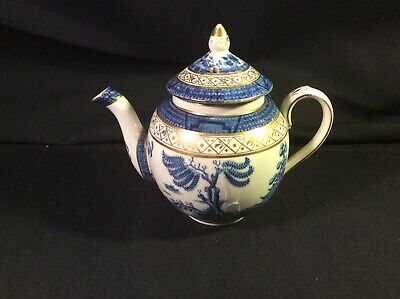 Gilded Booths Real Old Willow Pattern. No. 9072 Small Round Tea Pot-Lid Damage • 39.95£
