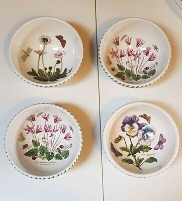 4 X Portmeirion Botanic Garden Cereal Bowls 14cm Used But Great Condition • 6.60£