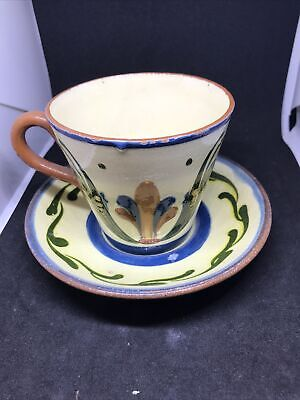 ANTIQUE ALLER VALE TORQUAY CUP AND SAUCER WITH MOTTO Inebriates • 4.99£