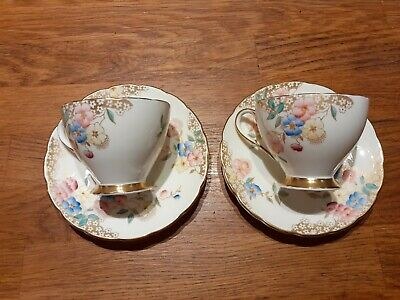 2 Vintage Foley Bone China Cups And Saucers • 10£