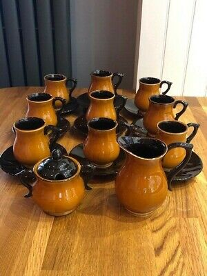 BOULTON West Country Made Pottery Part Coffee Set • 10£