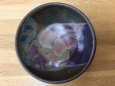 Vintage Studio Pottery Footed Bowl With Makers Mark • 7£