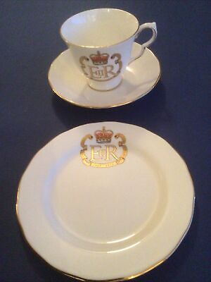 Vintage Queen Anne Bone China Silver Jubilee Trio - Cup, Saucer & Plate • 4.99£