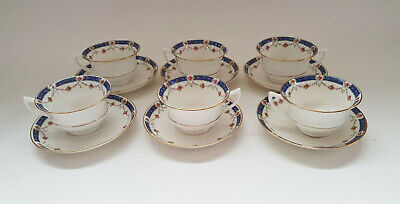Set Of Six Aynsley Cups & Saucers With Floral & Gilt Decoration • 15£
