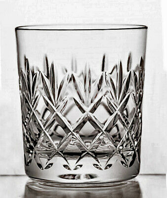 PAIR 24% LEAD CRYSTAL WHISKY TUMBLERS 280ml Hand Cut Mouth Blown Drinks Glasses  • 31.95£