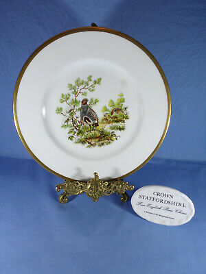 Crown Staffordshire Birds Of The Fields & Moorland (The Partridge) Cabinet Plate • 10£