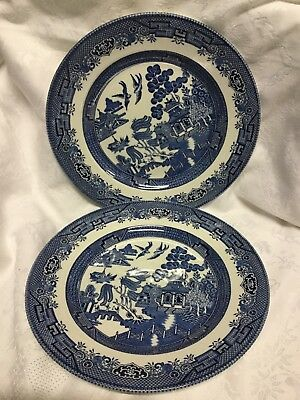 Churchill  Willow Two Dinner Plates. • 10£