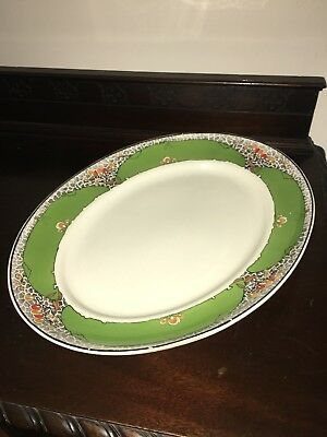 "A J Wilkinson, Royal Staffordshire Pottery Platter 19""x15"" 1930 Art Deco LARGE ! • 17.90£"