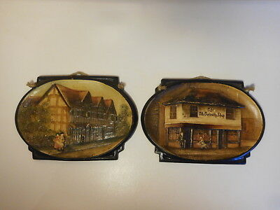 Bretby Art Pottery Shakespeare's House & The Old Curiosity Shop Small Plaques • 19.99£