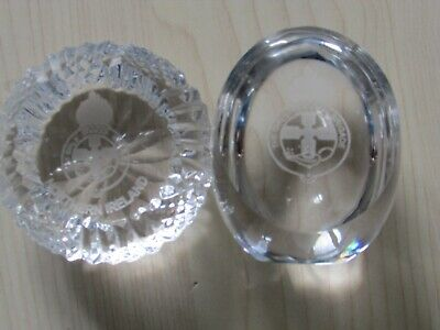 The Girls Guides Northern Ireland Tyrone Crystal Paperweight, Tyrone Etch Mark • 24.95£