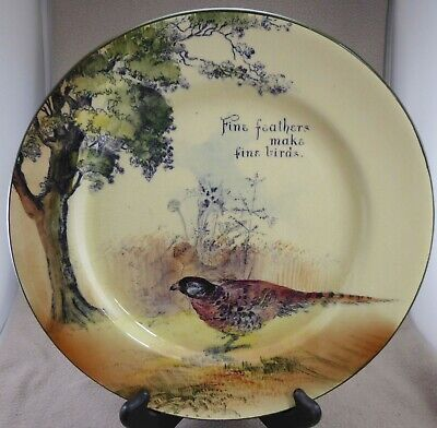 Royal Doulton Series Ware 10.4  Plate  Fine Feathers Make Fine Birds • 12.99£